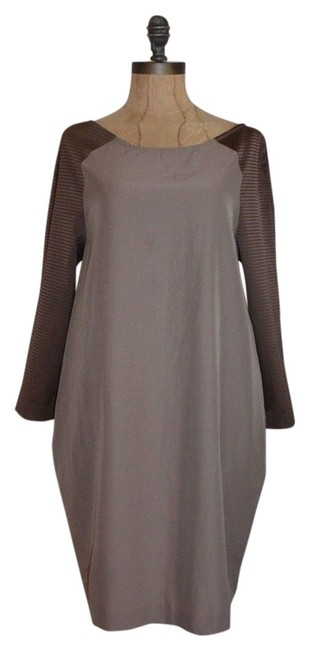 Preload https://img-static.tradesy.com/item/13993033/amy-matto-taupe-shift-short-workoffice-dress-size-4-s-0-1-650-650.jpg