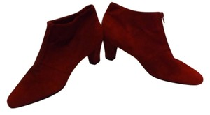 AJ. Valenci Suede Front Zipper Red Boots