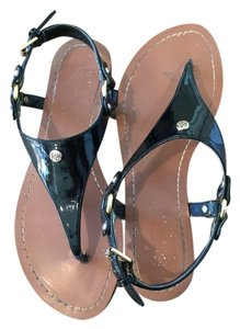 Lauren Ralph Lauren Patent Leather Black Sandals