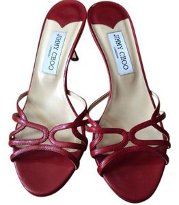 Jimmy Choo Heels Straps Red Pumps