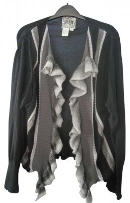 Preload https://item3.tradesy.com/images/black-and-grays-sweater-cardigan-size-18-xl-plus-0x-139937-0-0.jpg?width=400&height=650