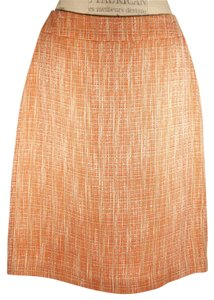 Jones Wear Skirt Orange Tweed