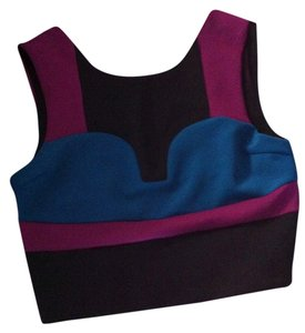 Nasty Gal Scuba Crop Top Blue, purple, black