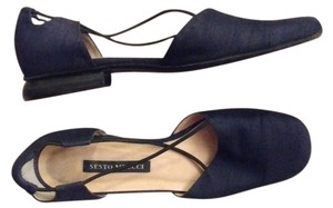 Sesto Meucci Made In Italy Leather Black Flats