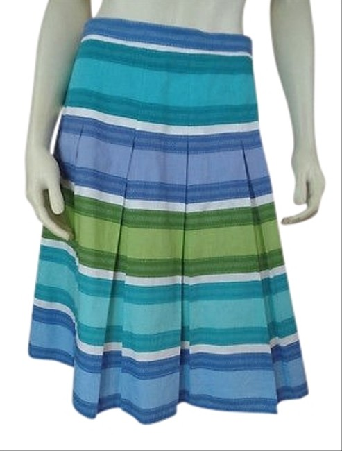 Preload https://img-static.tradesy.com/item/13994197/talbots-petites-skirt-blue-green-periwinkle-turquoise-white-cotton-spring-0-1-650-650.jpg