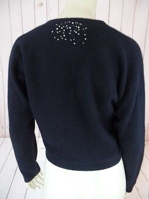 Other Bob Timberlake Fuzzy Lambswool Angora Nylon Stretch Sequins Chic Sweater Image 10