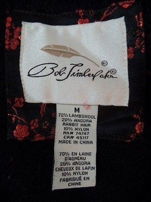 Other Bob Timberlake Fuzzy Lambswool Angora Nylon Stretch Sequins Chic Sweater Image 11