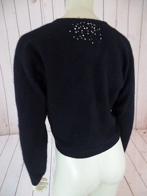 Other Bob Timberlake Fuzzy Lambswool Angora Nylon Stretch Sequins Chic Sweater Image 9