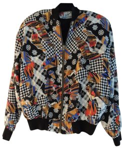 SIMYMODE PARIS Collection B&W houndstooth/red/gold/royal blue/taupe/brown/black/white Jacket