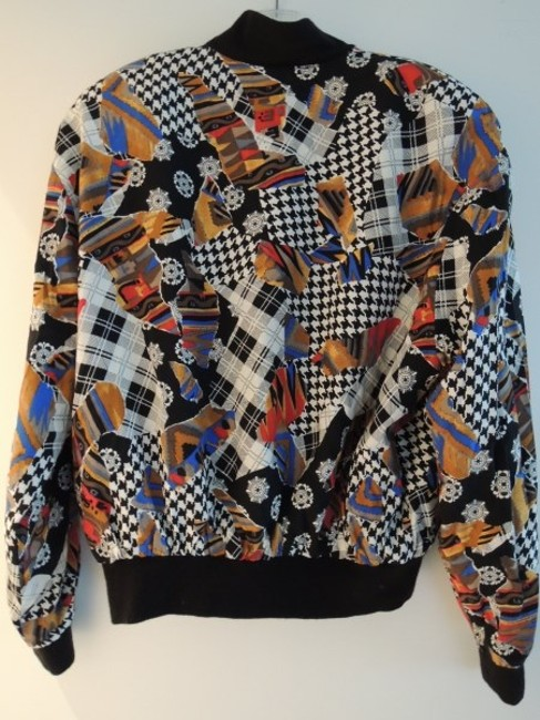 SIMYMODE PARIS Collection B&W houndstooth/red/gold/royal blue/taupe/brown/black/white Jacket Image 5