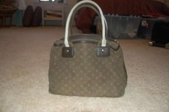 Louis Vuitton Satchel in Olive, brown and off white