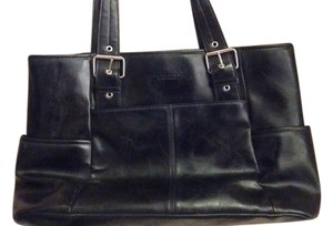 Kenneth Cole Tote in Black Faux Leather