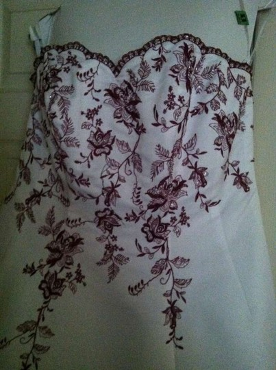 David's Bridal White/Apple Wedding Dress Size 16 (XL, Plus 0x)