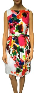 Eliza New York short dress Floral Bridal Summer Print Belted on Tradesy