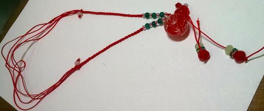 Other Murano Glass Perfume Bottle Pendant Necklace Christmas J403
