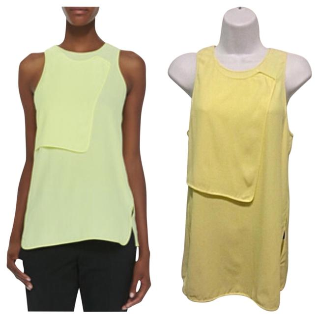 Preload https://img-static.tradesy.com/item/13997080/alexander-wang-yellow-georgette-layered-blouse-size-4-s-0-1-650-650.jpg