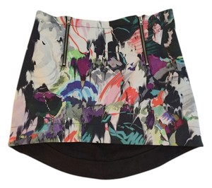 TopShop Printed Mini Mini Skirt Multi