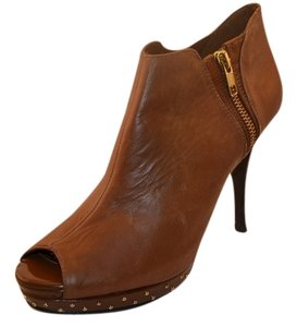 Reba Bootie Gold Hardware Brown Boots