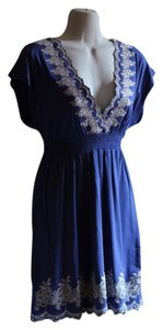 Hazel short dress Blue Embroidered on Tradesy