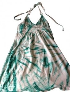 Victoria's Secret short dress Teal and White Tie-dye Halter on Tradesy