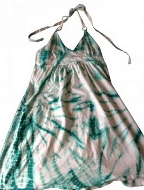 Preload https://item1.tradesy.com/images/victoria-s-secret-teal-and-white-tie-dye-halter-above-knee-short-casual-dress-size-8-m-139995-0-0.jpg?width=400&height=650