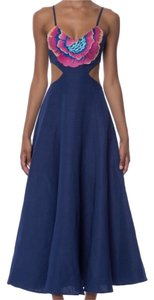 Blue Maxi Dress by Mara Hoffman Embroidered