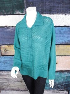 Appleseed's Open Knit Wool Blend Cardigan Sweater