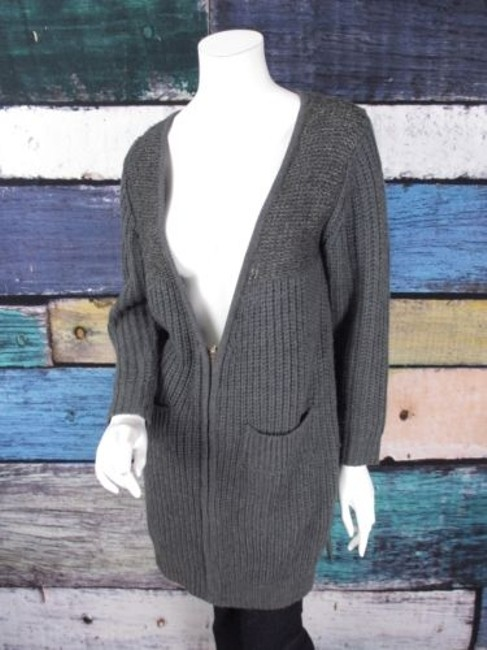 Preload https://img-static.tradesy.com/item/14000218/pol-the-buckle-gray-zip-front-cardigan-sweater-duster-jacket-0-0-650-650.jpg