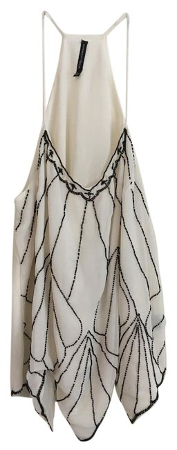 W118 by Walter Baker Camisole Top White with Black Beading