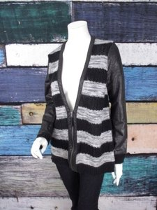 Trouvé Nordstrom Striped Coated Sleeve Cardigan Jacket Sweater