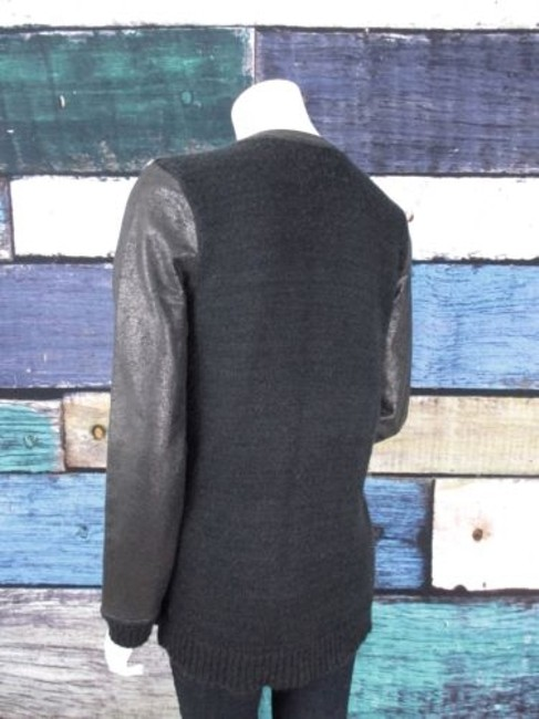 Trouvé Nordstrom Striped Coated Sleeve Cardigan Jacket Sweater Image 1