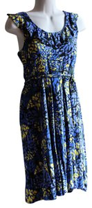 New York & Company short dress blue, yellow, black on Tradesy