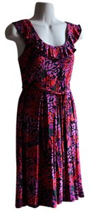 New York & Company short dress purple, red, black on Tradesy