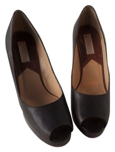 Michael Kors Peep Toe Platform Dark Brown Pumps