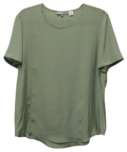 Zoe & Sam Silk Top Grey