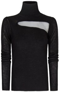 Mango Wool Turtleneck Sheer Sweater