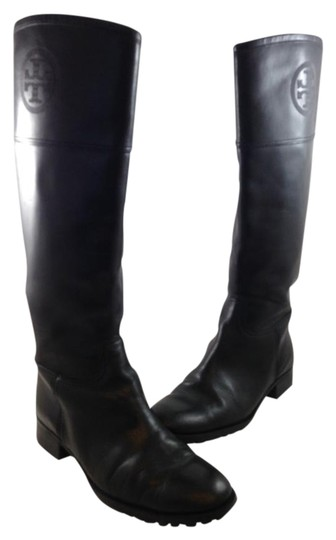 Tory Burch Designer Leather Black Boots