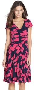 Maggy London short dress Magenta & Navy Blue on Tradesy