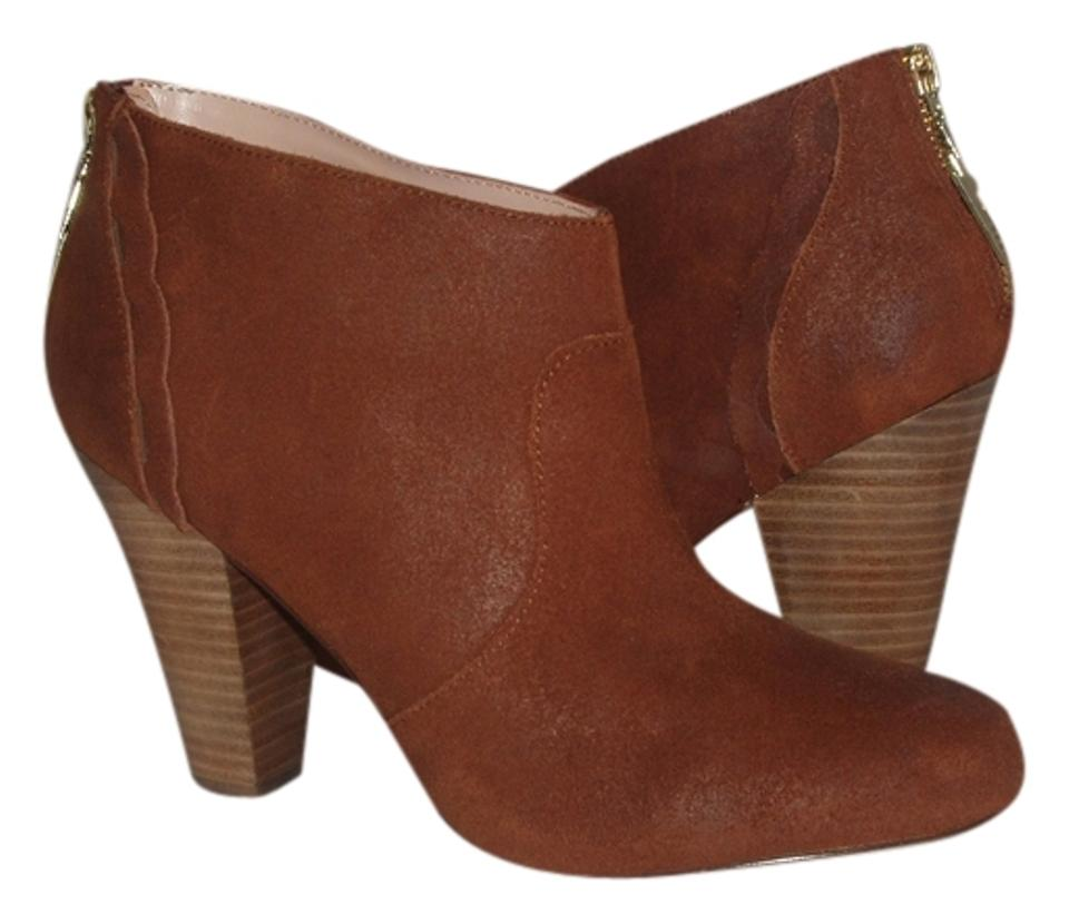 Betsey Johnson Ankle Cognac (Brown) Brown Suede Ankle Johnson 10b New Boots/Booties 70d9d3