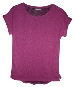Yessica Stretch Lace Opaque Career Casual Top Purple