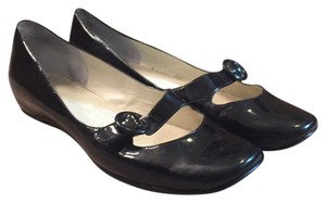 Bandolino Mary Jane Size 8 Boho Patent Leather black Flats