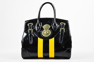 Ralph Lauren Yellow Satchel in Black
