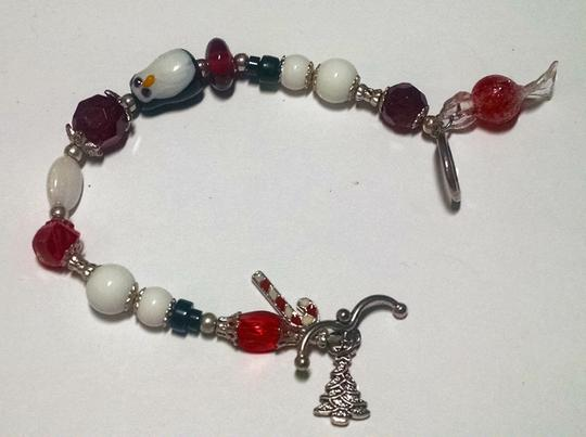 Other Christmas Bracelet Charm Penguin Candy Cain J405
