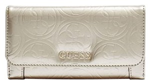 Guess Guess patent leather silver slim wallet