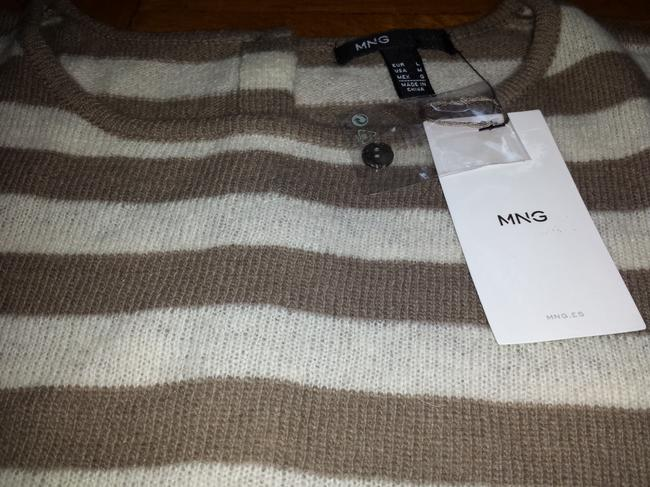 Mango Wool Back Buttons Sweater