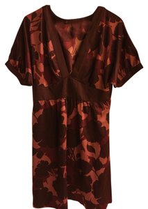 Mossimo Supply Co. short dress Burgundy Fashion Floral on Tradesy