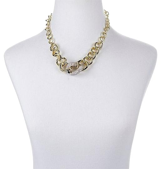 "Roberto by RFM Roberto by RFM ""Solo Oro"" 8.64ct CZ 2-Tone Link Pav Necklace"