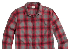 J.Crew Button Down Shirt Red/gray