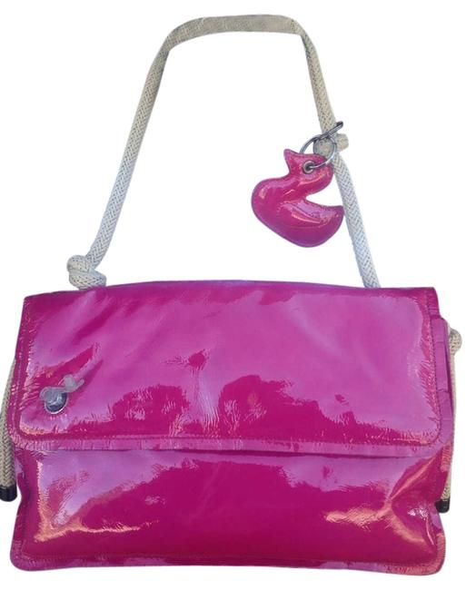 Jamin Puech Inflatable 12x 8 Berry Patent Leather Shoulder Bag Jamin Puech Inflatable 12x 8 Berry Patent Leather Shoulder Bag Image 1