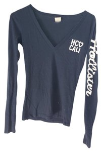 Hollister Longsleeve V-neck Top blue